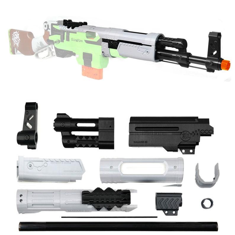 MaLiang 3D Print Doomsday MOD2 Barrel Muzzle Kit for Nerf SlingFire Modify  Toy