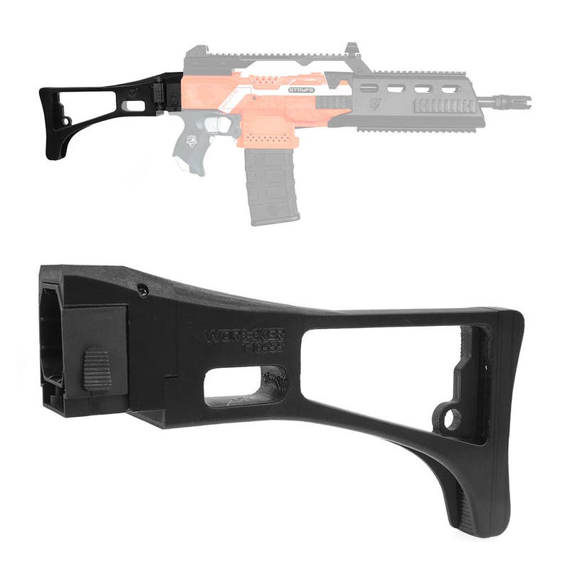 Worker MOD F10555 HK G36 Carbine Style 3D Print Foldable Butt Stock for  Nerf Modify Toy