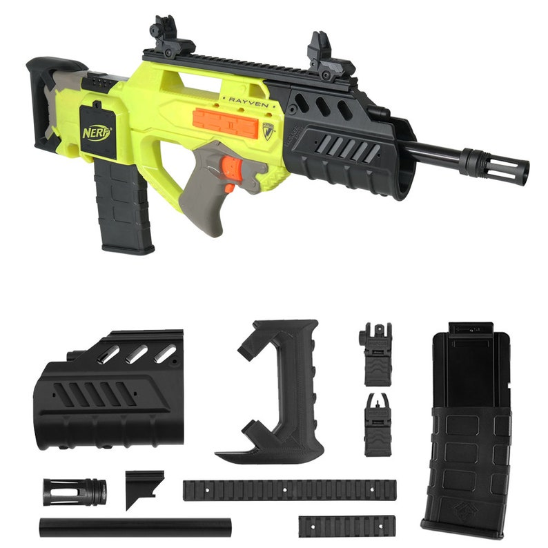 Worker MOD F10555 Bullpup Rifle Imitation Kit 3D Printing Combo for Nerf  RAYVEN Modify Toy