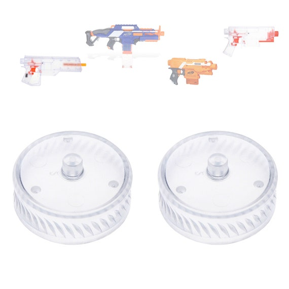 Details about  /Worker MOD Groove Clear Flywheels for Nerf Stryfe Rapidstrike Modified Toy