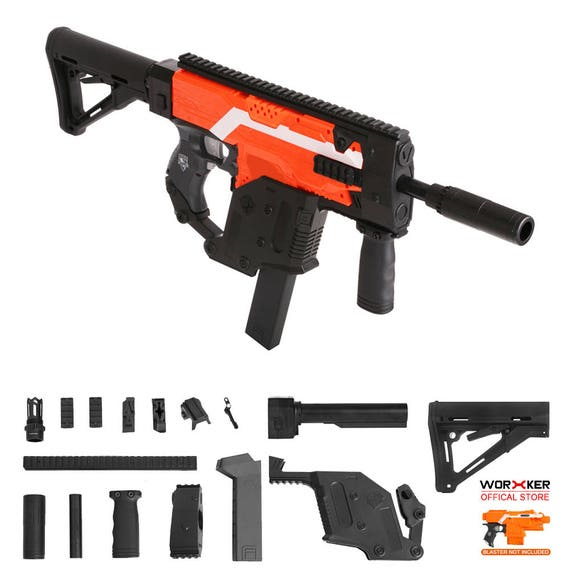 Worker MOD Kriss Vector Imitation Kit Black Combo For Nerf