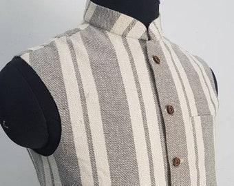 Handgewebte Ikat Stil Baumwolle Nehru Weste Khadi Weste | Etsy