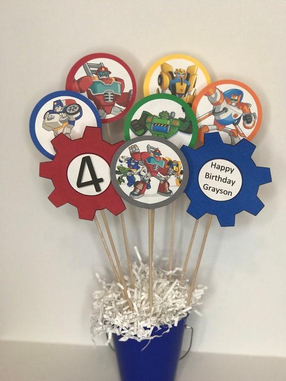 Rescue Bots Transformers Birthday Party Custom Centerpiece Etsy