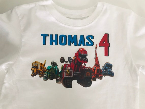 Dinotrux Trux It Up Personaliz​ed Birthday Party Favor Gift T-Shirt NEW