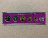 Israel 1972 Special Government Numbered Mint Set 6 Coin Coins Lira Agorot Agora, World Coins. Israeli Memorabilia Coina