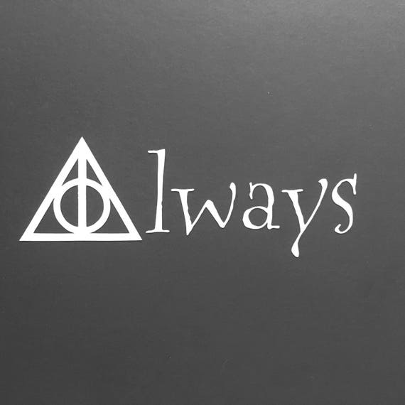 Snitch Potter Always Deathly Hallow Symbol I Shouldnt Etsy