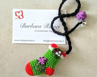 Bookmark Crochet Befana Stocking Christmas Thought Gift