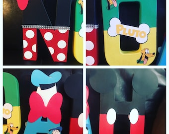 mickey mouse clubhouse inspired letters, Disney Name, Mickey Mouse Clubhouse birthday decorations...