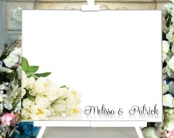 Wedding Guest Book Alternative Watercolor Guest Book Canvas | Etsy