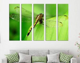 Libelle-Leinwand-Druck Libelle-Wand-Kunst Dekor Leinwand Libelle Foto Leinwand Wand Dekor Libelle Druck Leinwand Libelle Dekor