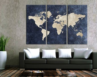 World map canvas etsy travel world map canvas wall art world map canvas canvas world map wall art canvas print wall decor art christmas gift travel world map gumiabroncs Gallery