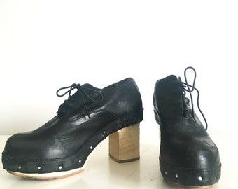 COMME DES GARCONS - Leather lace up boots