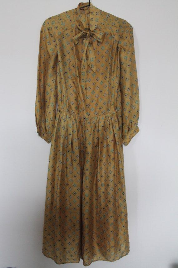 1970's Silk Vintage Dress