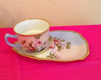 Vintage,Nantucket cup and snack saucer,plate.made in China