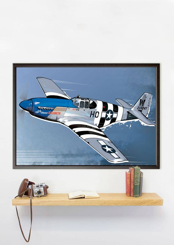 A4 Mustang *DISCOUNTED OFFERS*  A3 Vintage Military Aircraft Poster Print