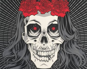 Limited Edition Numbered Screenprint Poster - 'La Nouvelle Morte' by Brian Ewing.