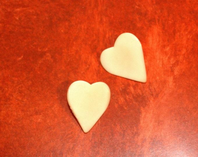 Corazón Natural - Pendientes de Tagua
