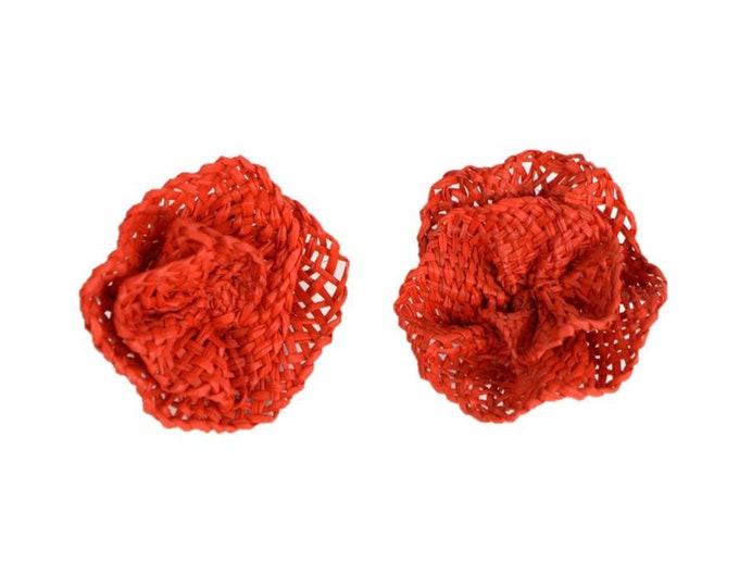 Flor - Pendientes de Paja Toquilla
