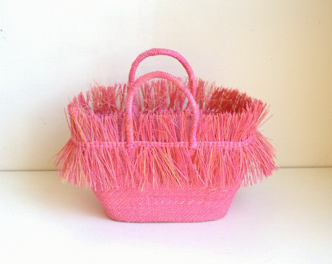 Mini Bag Guayaba -  Bolso de Paja Toquilla