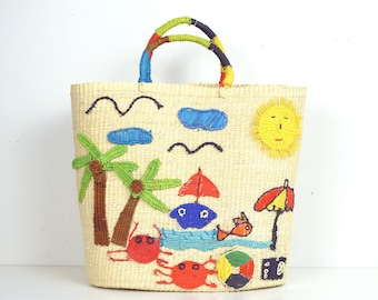 Vamos a la playa - Bolso Paja Toquilla