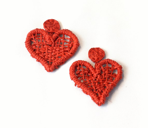 Amore - Pendientes de Paja