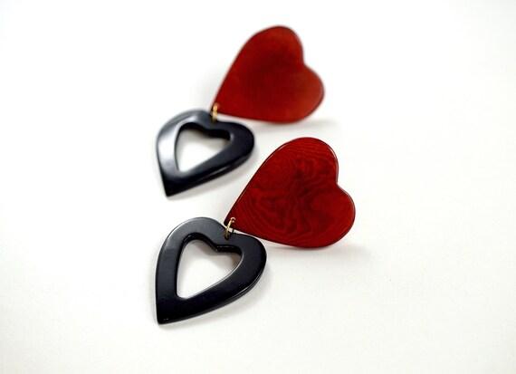 RED HEARTS - Pendientes de Tagua
