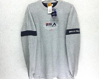 20fbf89e762b Deadstock Fila Biella italia sweatshirt spell out Jumper