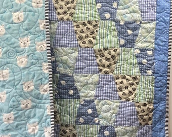 Cuddle Bear Baby Quilt Kit, Baby Quilt Kit, Baby Boy Quilt Kit, Pre Cut Baby Quilt Kits, Quilt Kits For Sale, from QuiltieSisterS
