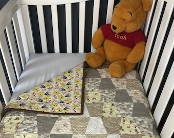 Modern Winnie The Pooh Pre-cut Tumbler Baby Quilt Kit from QuiltieSisterS