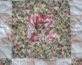 Garden Quilt Kit, Fairy Garden Quilt, Block Quilt, Economy Block, Lap Quilt Kit, Baby Quilt Kit from QuiltieSisters