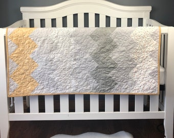 Modern Baby Quilt Kit.   Everything is pre-cut, ready for you to sew!