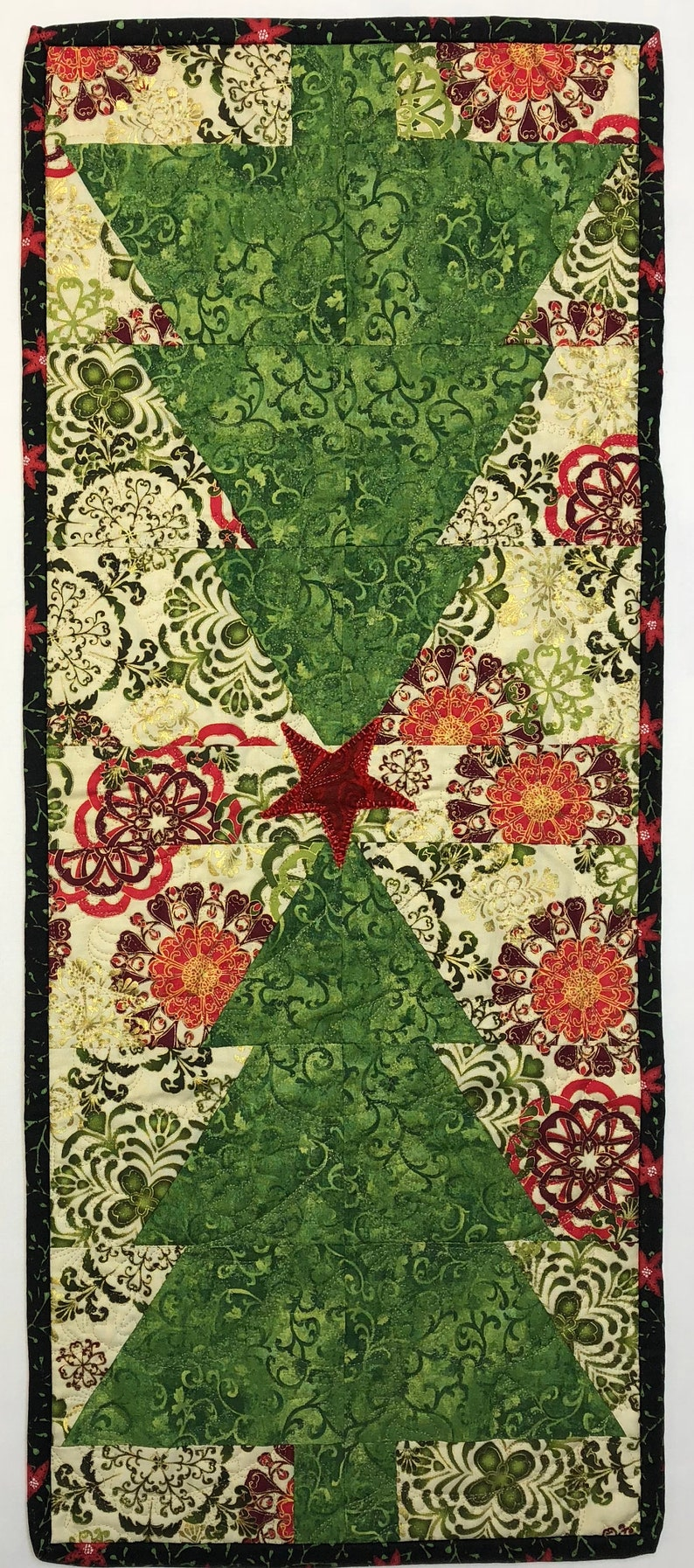 Christmas Tree Table Runner Pre Cut Quilt Kit image 0