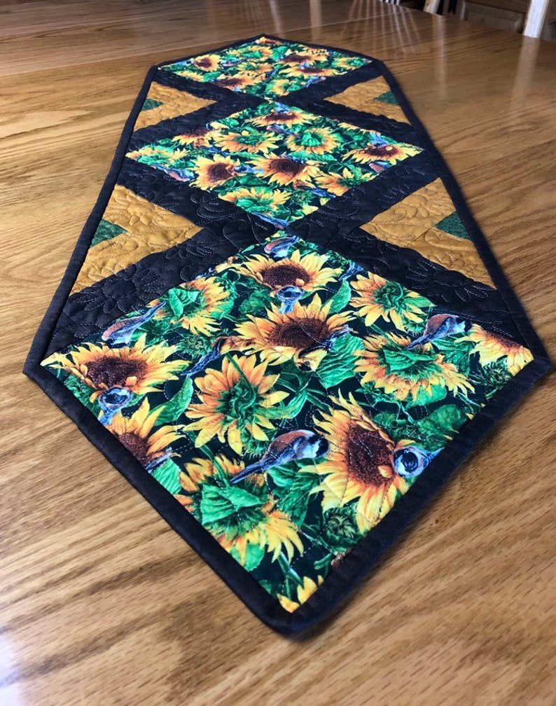 Sunflower Harvest Table Runner Quilt Kit From QuiltieSisterS image 0
