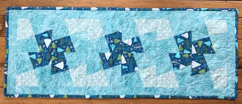 WInter Magic Holiday Table Runner Quilt Kit Project From image 0