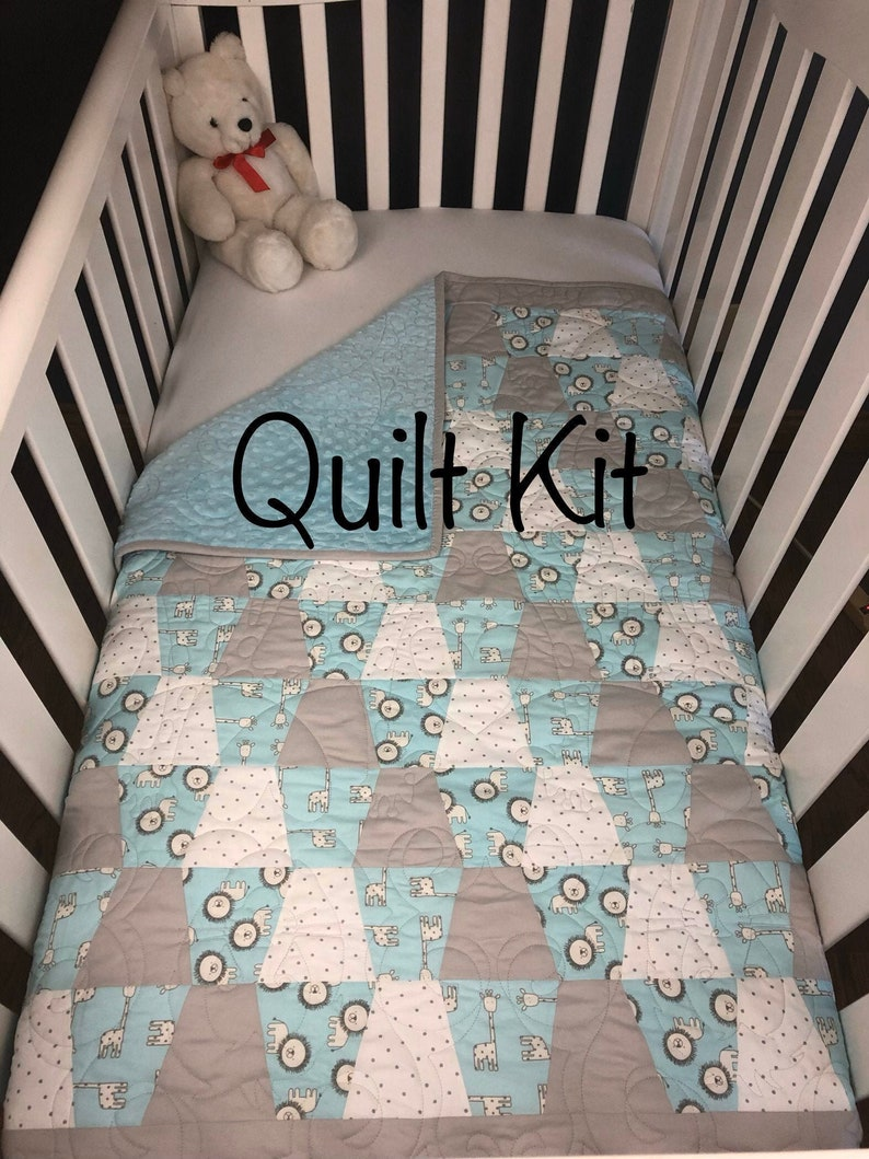 Beginner baby Quilt Kit we call Shadow's Pal Tumbler. image 0