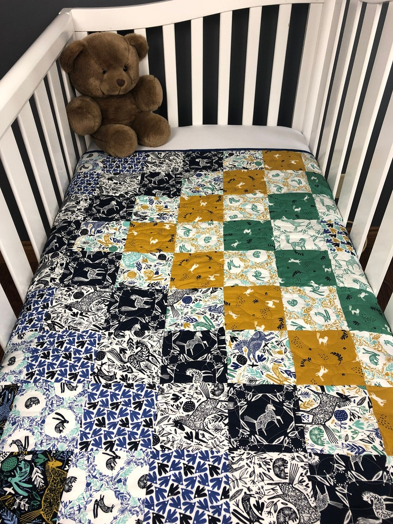 Woodland Baby Quilt Kit Charm Pack Squares From QuiltieSisterS image 0