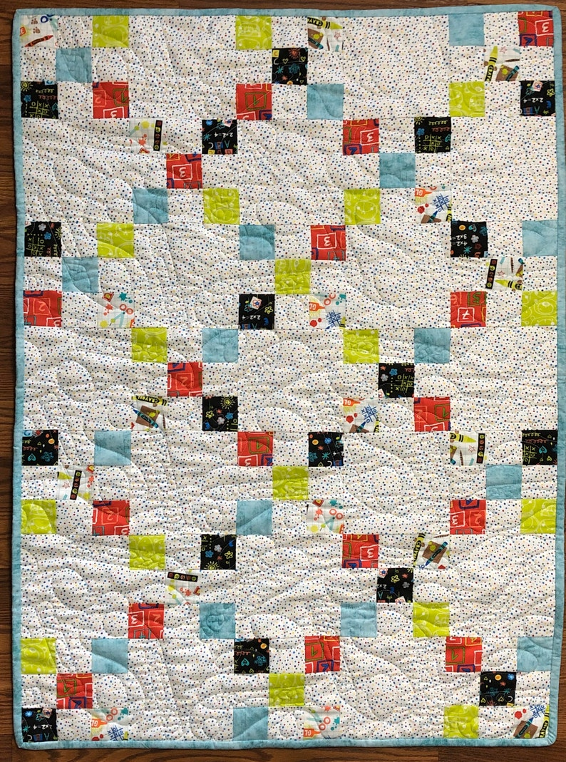 Irish Chain Baby Quilt Kit Pre-Cut from QuiltieSisterS Kit Only