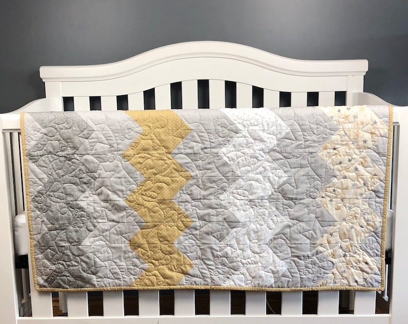Modern Quilt Kit Baby Quilt Kit Baby Girl Baby Boy. image 0