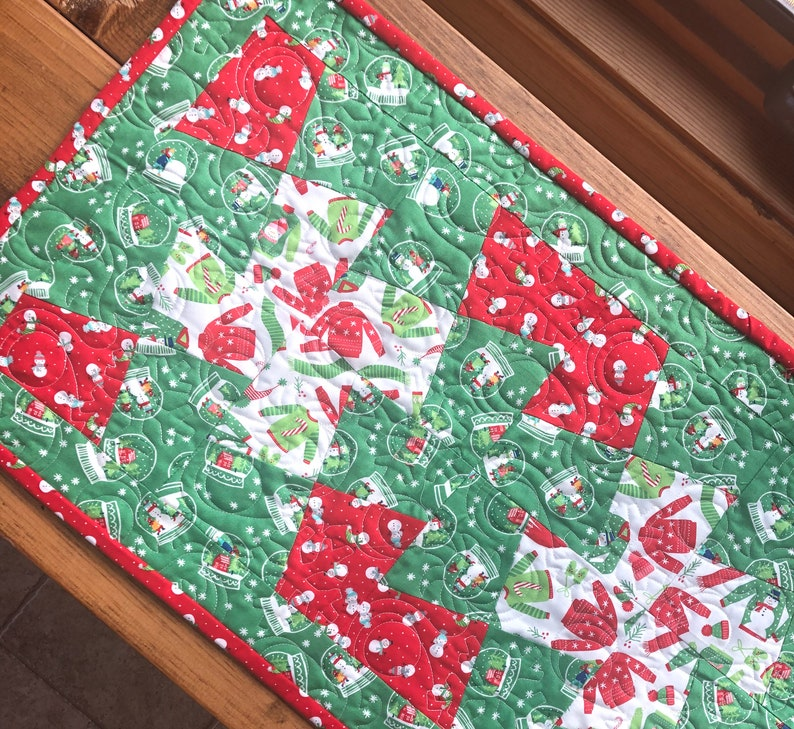 Christmas Sweaters Table Runner Quilt Kit Project From image 0