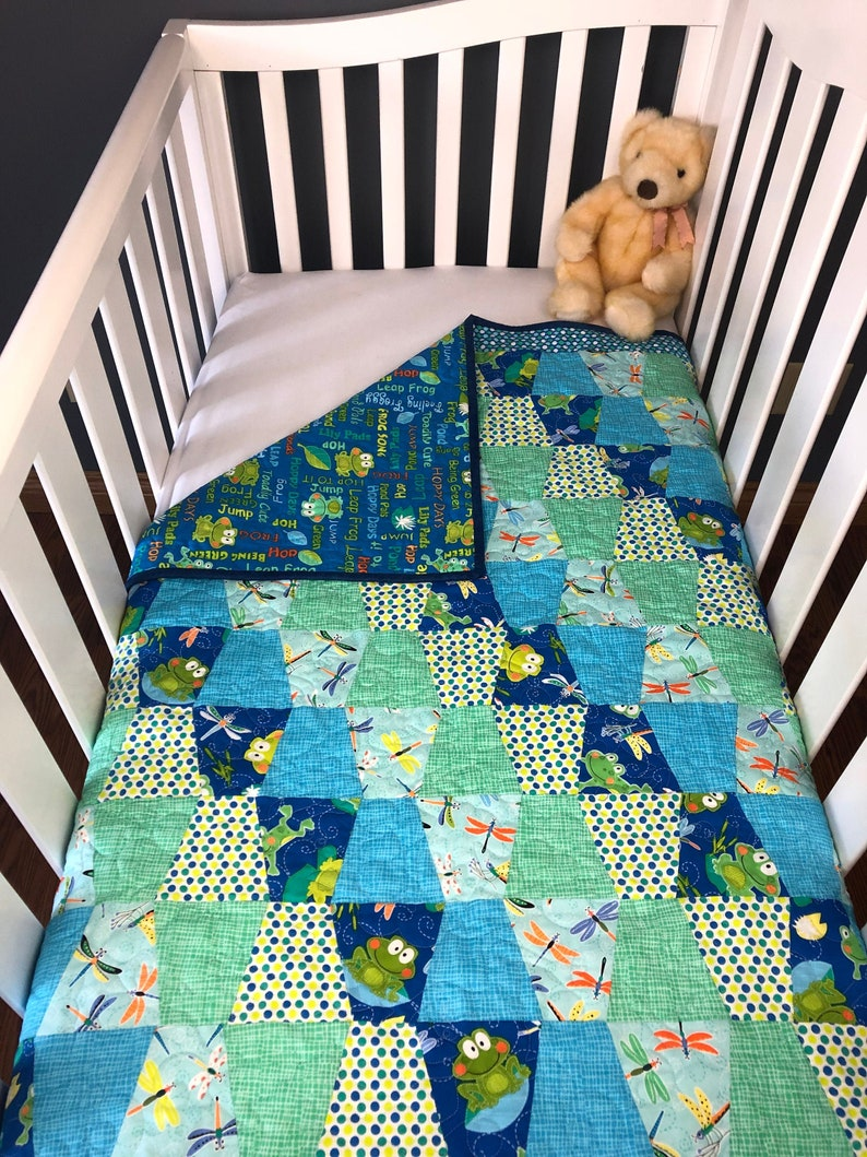 Toadily Cute Pre-cut Tumbler Baby Quilt Kit from image 0