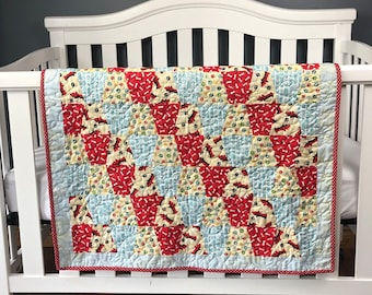 Love of Dogs Pre-cut Tumbler Baby Quilt Kit from QuiltieSisterS