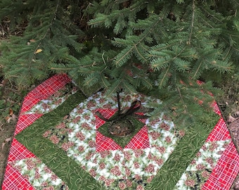 """Tree Skirt Quilt Kit Christmas by QuiltieSisterS (48 X 48"""")"""