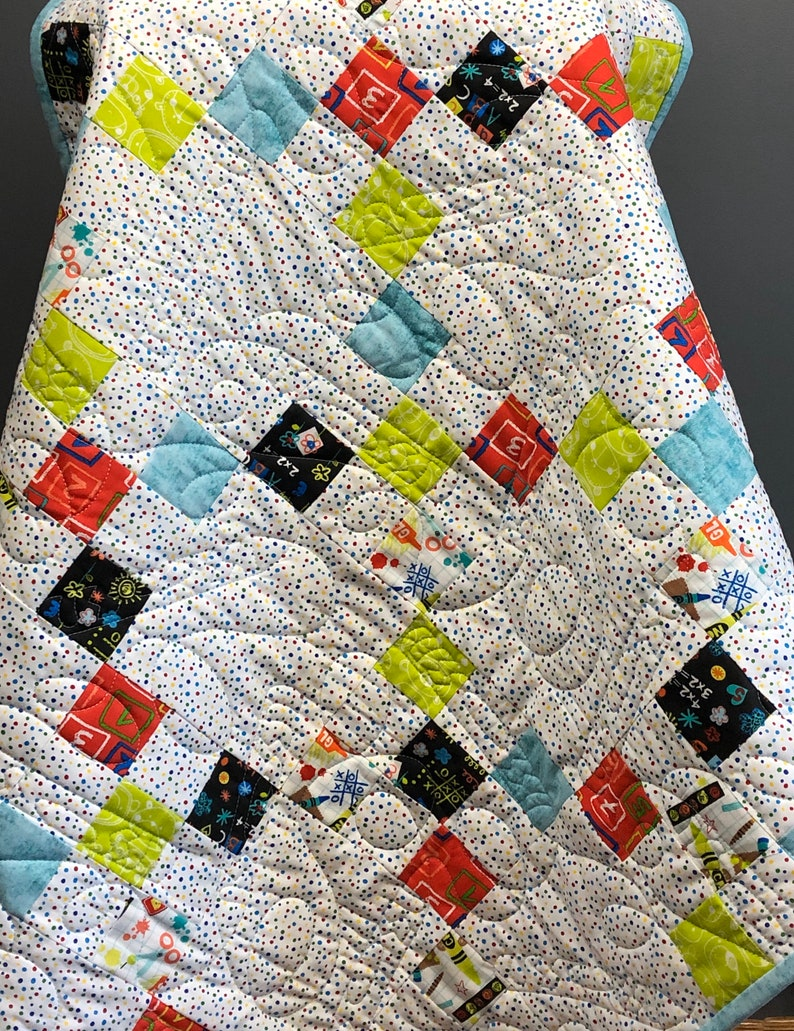 Irish Chain Baby Quilt Kit Pre-Cut from QuiltieSisterS image 0