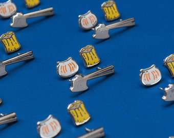 Dim Sum Enamel Pins Set