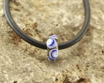 Handmade Murano glass bead,hand-wrapped glass bead,bracelet with glass bead,handmade glassbead,glass bead handmade,glass bead bracelet