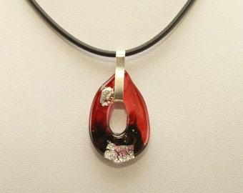 Lampwork Murano glass,Murano glass jewelry handmade,handmade glass jewelry,necklace in Murano glass,chain pendant in Murano,glass pendant