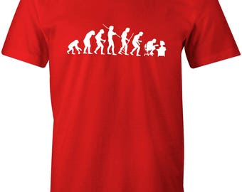 Evolution of Geek Cool Retro Men's T-shirt