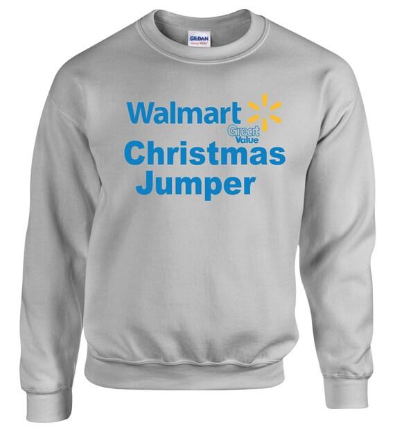 Walmart Inspired Funny Great Value Christmas Jumper Etsy