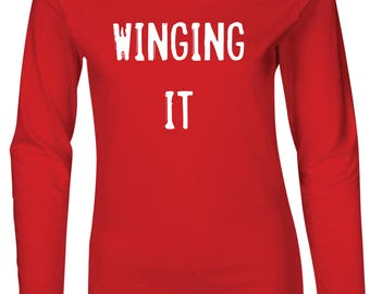 Winging It Women's Fitted Long Sleeve T-Shirt