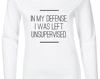 In My Defense Women's Fitted Long Sleeve T-Shirt